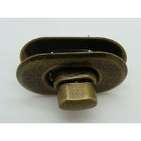 Fermoir Fermeture Tourniquet Tournant 37x22mm métal couleur Bronze par 1 pc