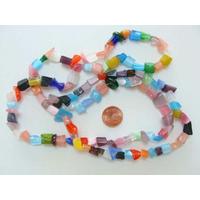 Perles verre Oeil de Chat CHIPS moyenne par 140 pcs environ