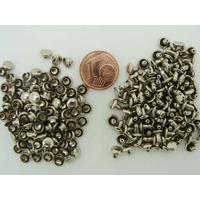 Petits Rivets double tête 5mm métal nickelé par 100 pcs