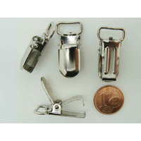 Pinces bretelles 27x13mm métal couleur Acier par 8 pcs