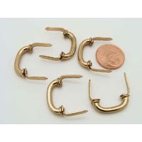 Mini Poignées 20mm fixation languette métal couleur dorée par 5 pcs