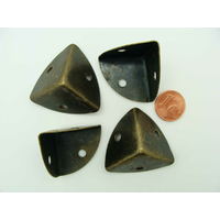 COINS 3D 20x20x20mm simples métal couleur Bronze par 4 pcs