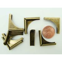 Angles 20mm métal couleur Bronze coins simple par 8 pcs