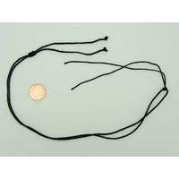 Collier monté Noir cordon NYLON 1,5mm avec 1 noeud coulissant par 5 pcs