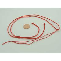 Collier monté Rouge cordon NYLON 1,5mm avec 1 noeud coulissant par 5 pcs