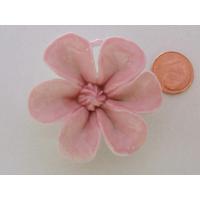 Pendentif Porcelaine Fleur rose 43mm
