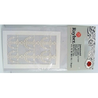 Découpes laser Papier 6 ANCRES Mer Bateaux Crème Rayher
