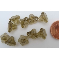 Perles Cones fleurs OLIVE FONCE 8mm par 20 pcs