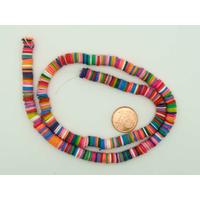380 env Perles Rondelles Pâte polymère 6mm MIX couleurs par 1 fil