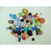 Perles verre Oeil de Chat lot mélange aléatoire par 72 pcs