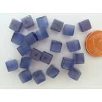 Perles verre Oeil de Chat cubes 6mm Violet Indigo par 20 pcs