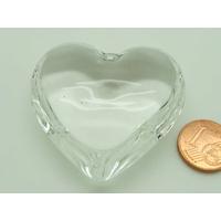 Pendentif verre COEUR 44mm TRANSPARENT par 1 pc