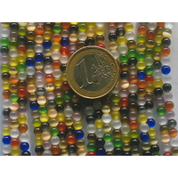 Perles verre Oeil de Chat rondes 4mm Mix Couleurs par 25 pcs