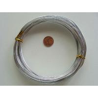 Fil Aluminium 1,5mm ARGENTE par 10 mètres
