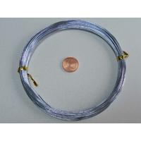 Fil Aluminium 0,8mm GRIS BLEU par 10 mètres