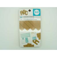 Papier Kraft épais 7,6x12,7cm pour découpes carnet 50 feuilles