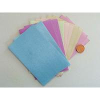 Tissu adhésif 10x6,5cm couleurs unies par 12 coupons