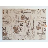 Tissu adhésif coupon format A4 motifs Paris par 1 feuille