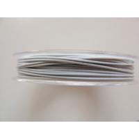 FIL CABLE 0,60mm BLANC GRIS par 1 bobine de 10m