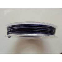 FIL CABLE 0,60mm BLEU INDIGO par 1 bobine de 10m