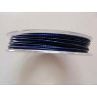 FIL CABLE 0,60mm BLEU MARINE par 1 bobine de 10m
