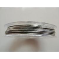 FIL CABLE 0,60mm GRIS ARGENTE par 1 bobine de 10m