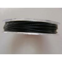 FIL CABLE 0,60mm NOIR par 1 bobine de 10m