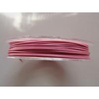 FIL CABLE 0,60mm ROSE CLAIR par 1 bobine de 10m