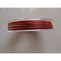 FIL CABLE 0,60mm ROSE VIOLET par 1 bobine de 10m