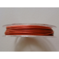 FIL CABLE 0,60mm ORANGE BRUN par 1 bobine de 10m