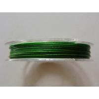 FIL CABLE 0,60mm VERT FONCE par 1 bobine de 10m