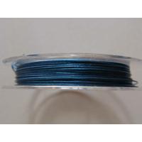 FIL CABLE 0,38mm BLEU FONCE par 1 bobine/10m
