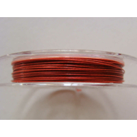 FIL CABLE 0,38mm ORANGE BRUN par 1 bobine/10m