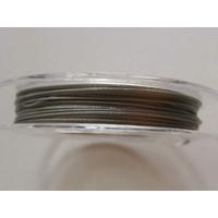 FIL CABLE 0,38mm GRIS ARGENTE par 1 bobine/10m