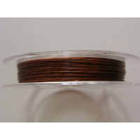 FIL CABLE 0,38mm MARRON FONCE par 1 bobine/10m