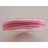 FIL CABLE 0,38mm ROSE CLAIR par 1 bobine/10m