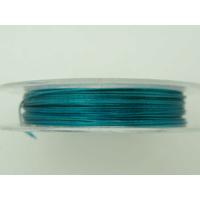 FIL CABLE 0,38mm Bleu par 1 bobine/10m