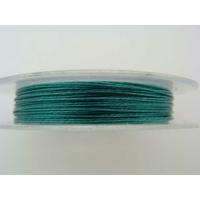FIL CABLE 0,38mm Bleu Vert par 1 bobine/10m