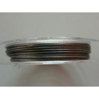 FIL CABLE 0,45mm GRIS ARGENTE par 1 bobine/10m