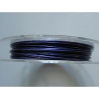 FIL CABLE 0,45mm BLEU INDIGO par 1 bobine/10m