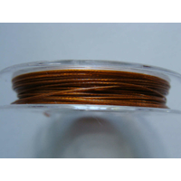 FIL CABLE 0,45mm MARRON DORE par 1 bobine/10m