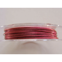 FIL CABLE 0,45mm ROSE VIOLET par 1 bobine/10m