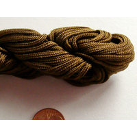 FIL NYLON TRESSE 1,5mm MARRON CAFE par 1 Echeveau 15m