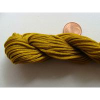 FIL NYLON TRESSE 1,5mm MARRON DORE par 1 Echeveau 15m