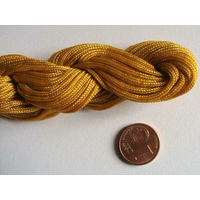 FIL NYLON TRESSE 1,5mm MARRON CLAIR par 1 Echeveau 15m