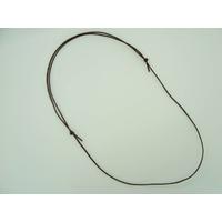 Collier réglable Marron cordon coton ciré 1mm noeuds coulissant par 5 pcs