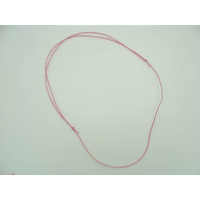 Collier réglable Rose cordon coton ciré 1mm noeuds coulissant par 5 pcs