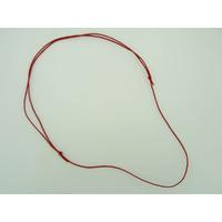 Collier réglable Rouge cordon coton ciré 1mm noeuds coulissant par 5 pcs
