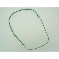 Collier réglable Vert cordon coton ciré 1mm noeuds coulissant par 5 pcs