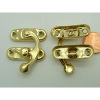 Fermoir Fermeture (2 pièces) 33mm métal couleur Doré par 4 pcs